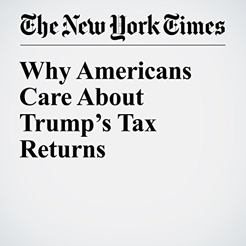 Why Americans Care About Trump's Tax Returns copertina