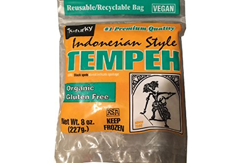 Indonesian Style Tempeh (Organic Gluten Free) - 8oz (Pack of 3)