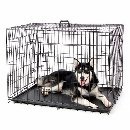 DHYBDZ Jaula de Metal para Perros con Puerta Doble de 48