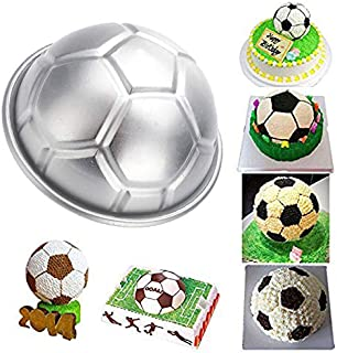 Belegend DIY Non-toxic Aluminum Birthday Cake Baking Jello Chocolate Football Pan Mold