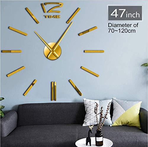 Djkaa Wall Art wandklok, kwarts, werkt op batterijen, personaliseerbaar, modieuze klok, decoratie voor thuis