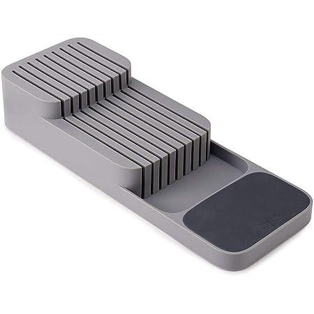 Joseph Joseph - Range Couteaux Tiroir, Ragement de Couteaux de Cuisine - Plastique, Gris