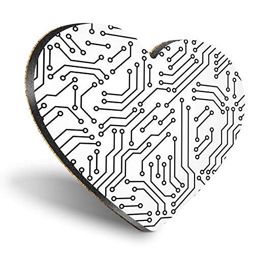 Posavasos de tablero de fibra de densidad media con forma de corazón...