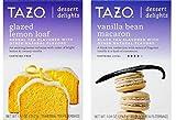 Tazo Dessert Inspired Flavored Tea 2 Flavor Variety Bundle, (1) each: Glazed Lemon Loaf and Vanilla Bean Macaron (15 Count)