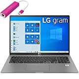 2020 LG Gram 17' WQXGA (2560 x 1600) Ultra-Lightweight Laptop Computer, 10th Gen Intel Quard-Core i7 1065G7, 16GB DDR4 RAM, 1TB PCIe SSD, Thunderbolt 3, Windows 10, Remote Work, iPuzzle Type-C HUB