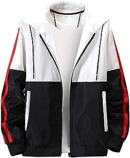 SOMESHINE Men's Lightweight Windbreaker Winter Jacket Water Resistant Shell Contrast Zip Front-Zip Jacket Breathable Outwear