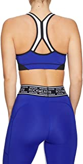 Rockwear Activewear Women's Olympia Mi Zip Colour Block Bra From size 4-18 Medium Impact Bras For