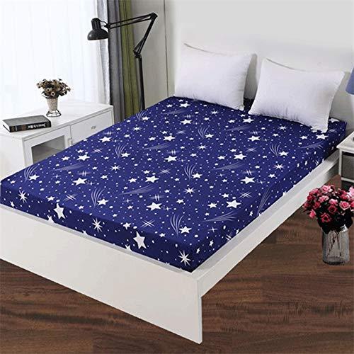 Acogedora funda de colchón elástica ajustable de 100% poliéster de alta calidad con impresión de alta calidad, tamaño personalizable para hotel en casa (color: Liuxingyu, tamaño: 90 x 200 x 26 cm)