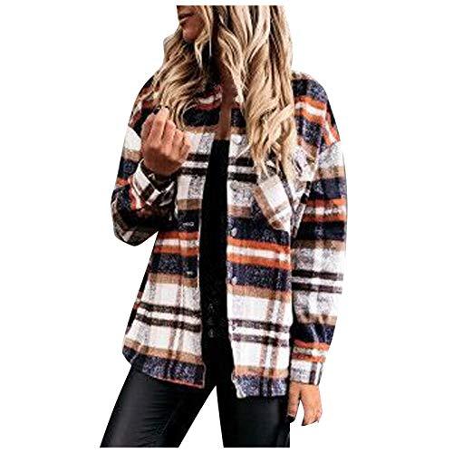 Damen t Shirt Lässige Crop Tops Freizeit Sport Langarm Mode Frauen lässig Oberteil Groß Größe Bequem Sweatjacke Business Cardigan Vintage Kariertes Hemd Longshirts