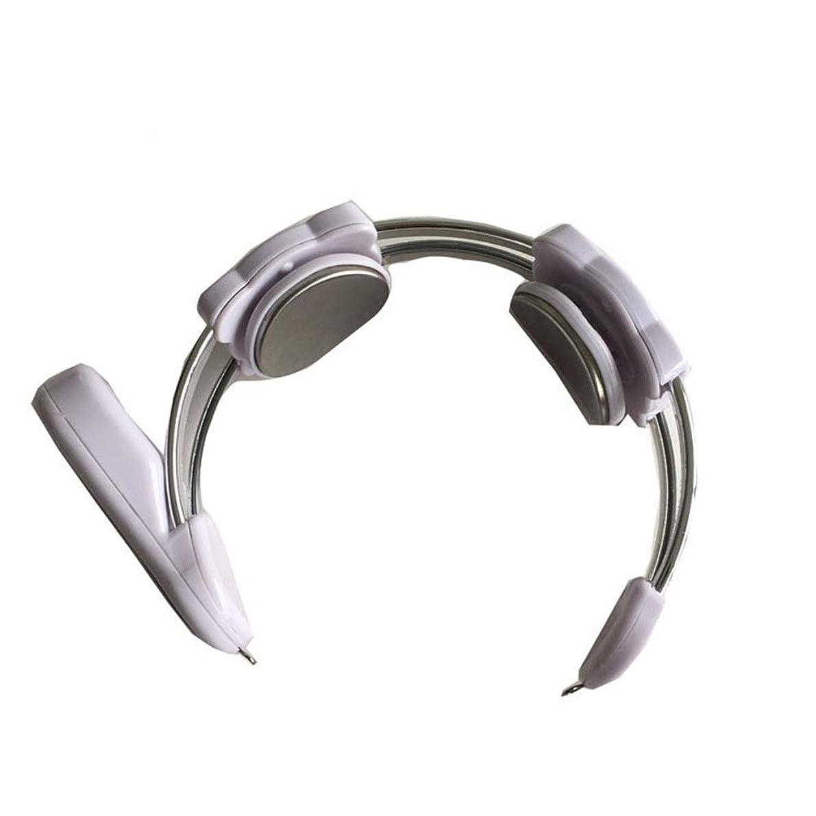 施し切断する戦い快適なディープ混練エレクトリックネックマッサージ - マッサージ機W/充電式 - ネックのための調節可能な振動と熱強度設定 -体にリラックスします (色 : 白, サイズ : ワンサイズ)