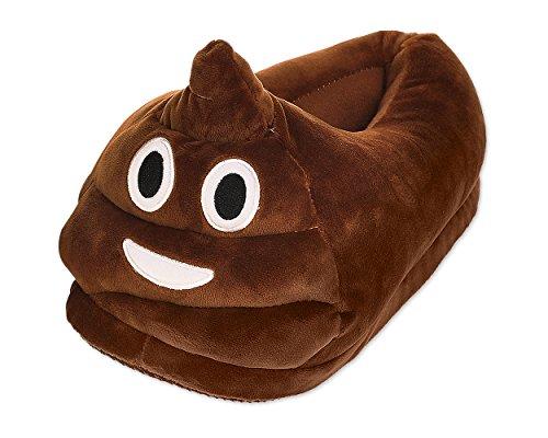 DSstyles Cute Cara Caliente Invierno Pantuflas Indoor Unisex Adult Poop Emoj Zapatillas para Niños, Hombres, Mujeres 36-41 EU
