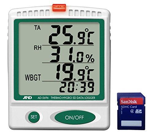 A&D 熱中症指数モニター/温湿度SDデータレコーダー AD-5696
