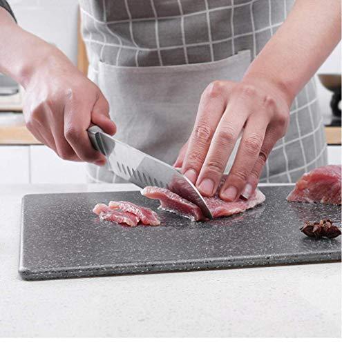 QQW Tablero de Corte de Plástico Diseño Antideslizante Tablero de Taja de Taja Lavavajillas Caja Fuerte para Carne de Cocina Cosas de Cocina 30X20Cm