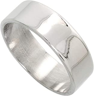 Sonia Jewels Cobalt Sterling Silver Inlay Satin 6mm Wedding Band