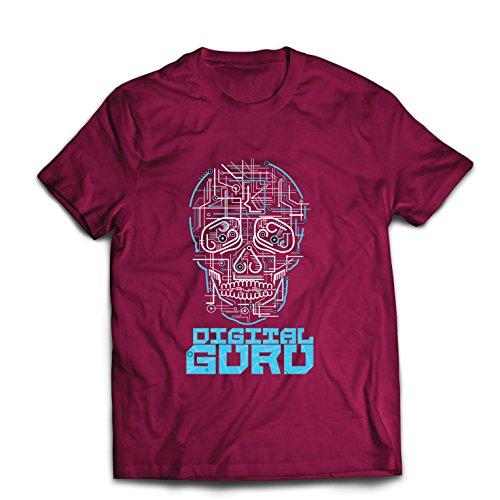 lepni.me Camisetas Hombre El gurú Digital - Ideas de Regalos de tecnología, computadora, Programador o Jugador (XX-Large Borgoña Multicolor)