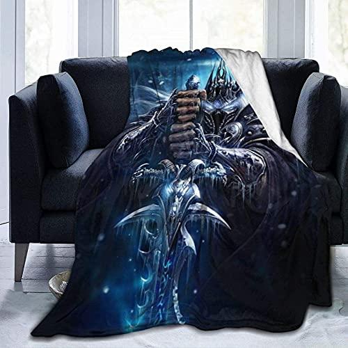 World of War-Craft - Manta ligera para todas las estaciones, tres tamaños supersuave, forro polar sherpa para cama, sofá, 127 x 101 cm