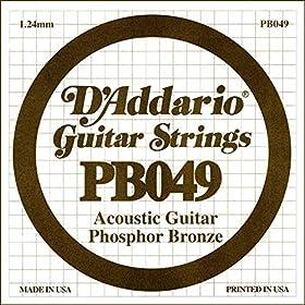 Fósforo / Bronce Calibre 049 Para guitarra acústica