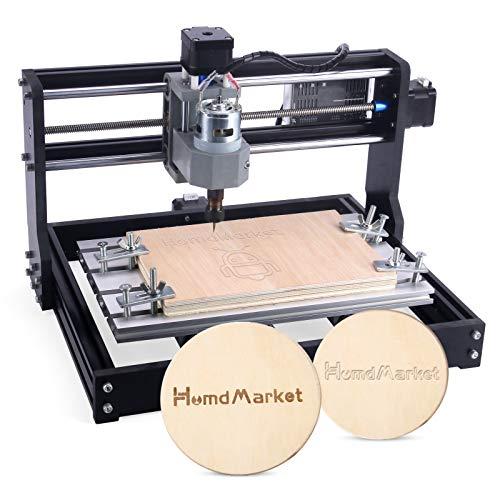 【Upgrade】 CNC Fräse3018 Pro Graviermaschine mit CNC-Touch-Plate, Mini-3-Achsen-CNC-Fräsmaschine GRBL Control Holz-Kunststoff-Leiterplattenfräsmaschine mit Offline-Steuerung