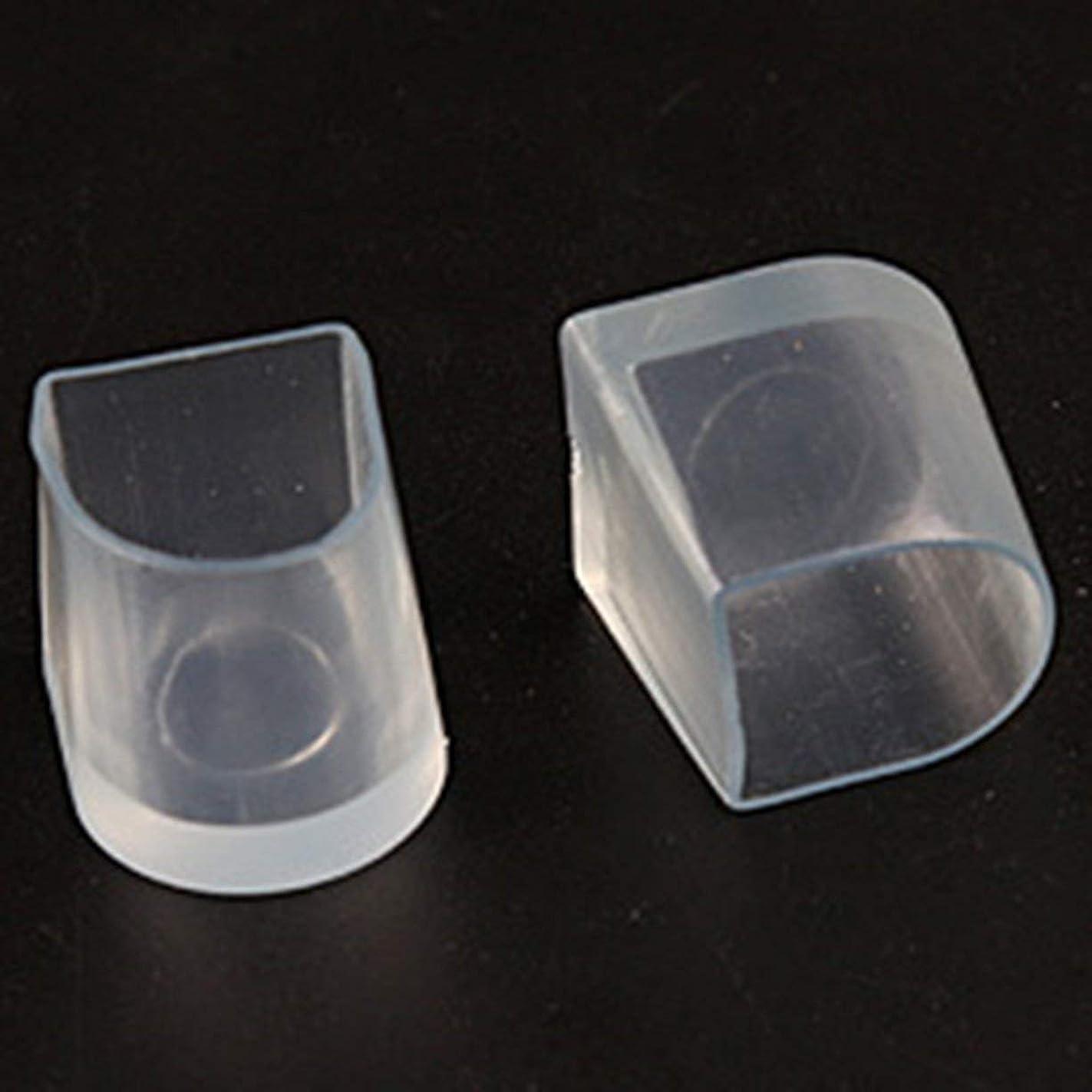 かび臭い太字適用済み1ペアハイヒール保護カバーラテンスティレットダンスカバーヒールストッパー滑り止め耐摩耗性 - 透明M