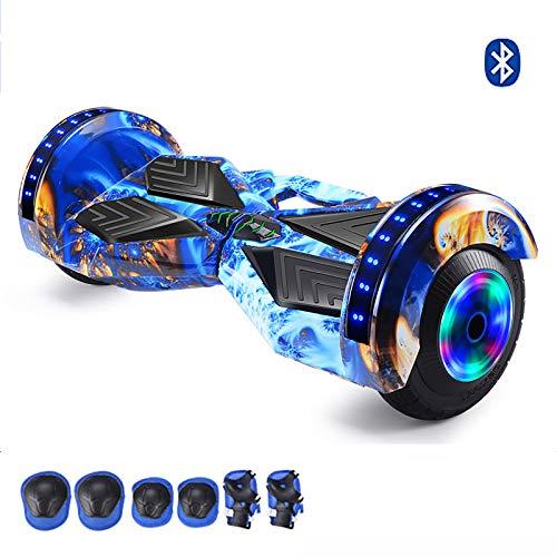 Hoverboard Self Balancing Patinete Elétrico Vespa del Adulto Puede Rueda Luminosa LED de la música de Bluetooth, Blue