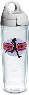 Tervis Up and Running Emblem and Water Bottle with Grey Lid, 24-Ounce, Beverage