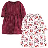 Hudson Baby Girl's Cotton Dresses, Fall Floral, 3-6 Months