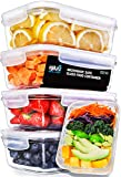 Igluu Glass Meal Prep Containers with Transparent, Steam Vent Lids - Airtight Portion