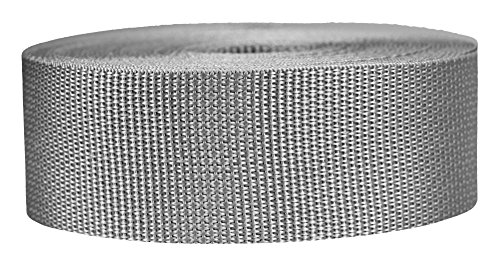 Strapworks - Cinta ligera de polipropileno (2 pulgadas por 10 yardas), color gris plateado, 2 pulgadas x 10 yardas