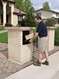 dVault Full Service Vault DVCS0015 Secure Curbside Mailbox/Package Drop with Locking Letterbox (Gray)