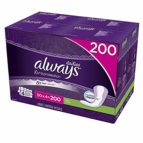 Always Xtra Protection Pantiliners - 200 Count