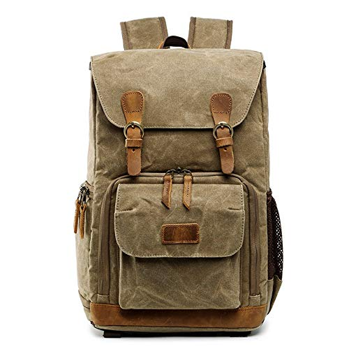 Angle-w Stylish Design,Simple Travel, Borsa per Fotocamera a Zaino Impermeabile Big Size Bag Bag Batik Batik Canvas Outdoor Fotocamera per Fotocamera Zaino Let us Go Further