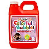 Lulu Home Bubble Concentrated Solution, 1 L/ 33.8 OZ Bubble Refill Solution for Kids Bubble Machine, Giant Bubble Wand, Bubble Gun Blower