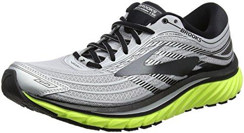 Brooks Men's Glycerin 15 Running Shoe (Silver/Black/Nightlife, Numeric_9_Point_5)