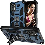 Protective Case for Moto G Stylus 2021 Case (Not fit G Stylus 2020) with Stand Kickstand Heavy Duty Defender Armor Military Protective Grade Silicone Phone Cover for Motolora G Stylus 2021 Case Blue