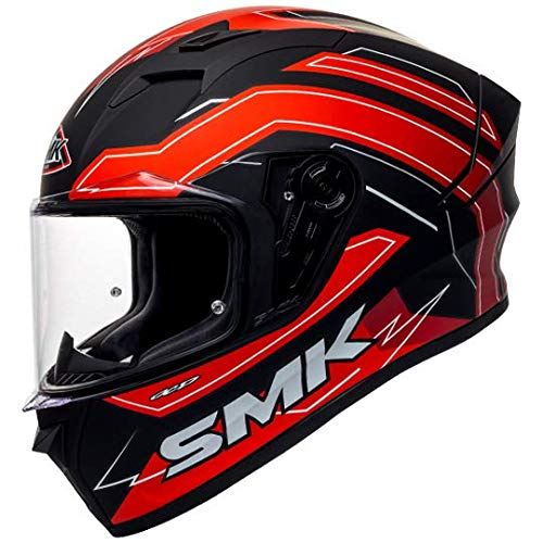 SMK Helmets - Stellar - Bolt - Black Grey Red - Pinlock...