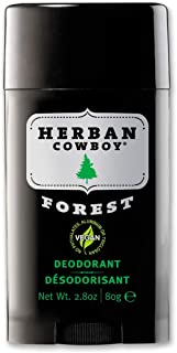Herban Cowboy Deodorant Forest - 2.8 oz | Men?s Deodorant | No Parabens, No Phthalates, No Aluminum & Certified Vegan