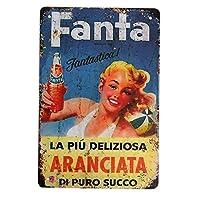 【USA アメリカン デザイン】FANTA USA キッチン レストラン カフェ ガレージ サインボード ビンテージ バイカー インテリア 看板 ; AVSB-298