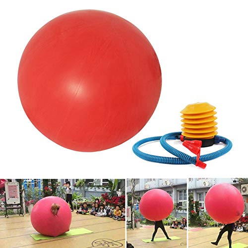 Thethan 72 Inch Latex Giant Human Egg Balloon Round Climb-in Balloon for Funny Game