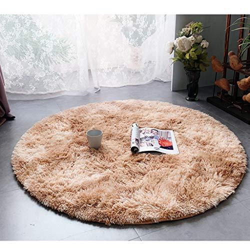 WZJ-CARPET Nordic Home Round Living Room - Mecedora de Dormitorio, Esponja de 3 cm + Esponja de Memoria de 1 cm Que se Puede Lavar con la Alfombra de la Lavadora (Color : E, tamaño : 100cm)