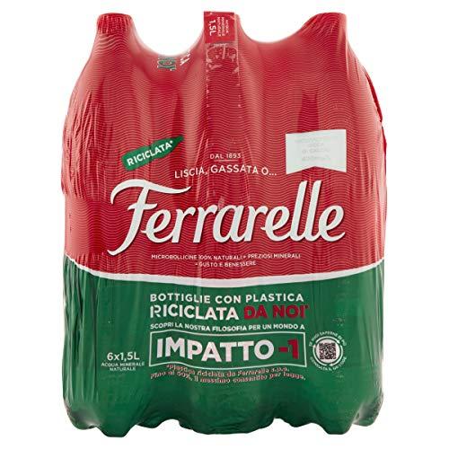 Ferrarelle Acqua Minerale Effervescente Naturale 1.5L (Confezione da 6)