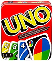​UNO is the classic family card game that's easy to learn and so much fun to play! ​In a race to deplete your hand, match one of your cards with the current card shown on top of the deck by either color or number. ​Strategize to defeat your competiti...