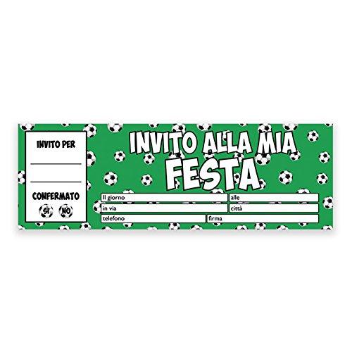 Inviti Festa Compleanno Calcio Football - Blocchetto da 20 pz.