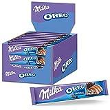 Milka Oreo - Barre de Chocolat au Lait aux Éclats de Biscuits Oreo - Présentoir de 36 barres (37 g)