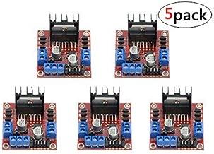 WGCD 5 PCS L298N Motor Drive Controller Board Module Dual H Bridge DC Stepper Module for Arduino