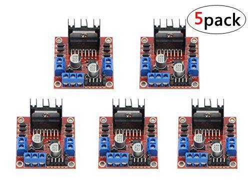 WMYCONGCONG 5 PCS L298N Motor Drive Controller Board Module Dual H Bridge DC Stepper Module for Arduino