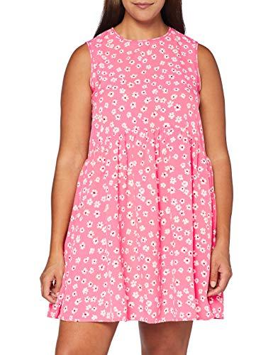 Tommy Damen Tjw Printed Drop Waist Dress Kleid, Pink, S