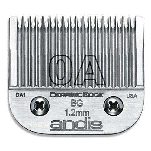 Andis 64470 CeramicEdge Carbon-Infused Steel Detachable Clipper Blade, Size 0A, 3/64-Inch Cut Length