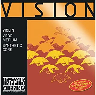 Thomastik-Infeld VI01st Vision Violin String, Single E String, Tin Plated Carbon Steel, Stark (Heavy) Tension, 4/4 Size