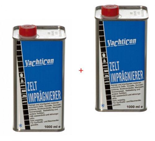 YACHTICON 2 Flaschen Zelt & Markisen Imprägnierung á 1 Liter - 2 Liter Gesamtmenge