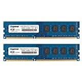ROYEMAI 8GB Kit (2X4GB) DDR3 RAM, DDR3 1600 PC3-12800U 4GB DDR3 2Rx8 240-pin Dimm CL11 1.5V Desktop RAM Memory Module